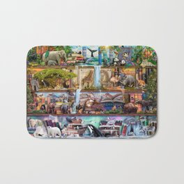The Amazing Animal Kingdom Bath Mat