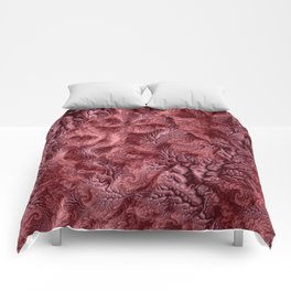 Floral Fantasy 07 red Comforters