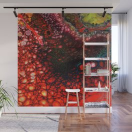 Red Fire Lava Flow Wall Mural