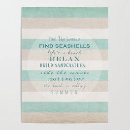 build sandcastles Poster