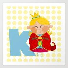 k for king Art Print