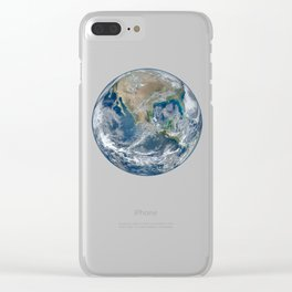 Planet Earth from Above Clear iPhone Case