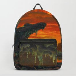 Classical Masterpiece 'Maquette pour un Décor Grotte Arctique' by Ivan Fedorovich Choultsé Backpack