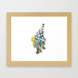 Cute fabric art vintage style Framed Art Print