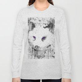 black and white : Fox Long Sleeve T-shirt