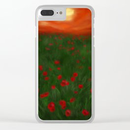 Poppies at Sunset Clear iPhone Case