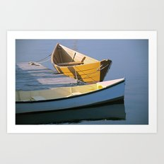 Two Boats in Mystic Art Print