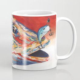 Expressionistic Blue Gill Sport Fish with Lure Coffee Mug