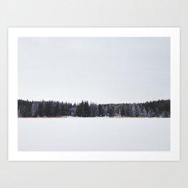Across a Winter Lake Art Print