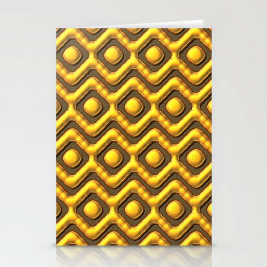 Liquid Gold Pattern Stationery Cards