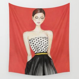 Portrait of a Model Woman Wall Tapestry