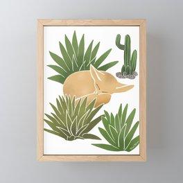 Fennex Fox Framed Mini Art Print