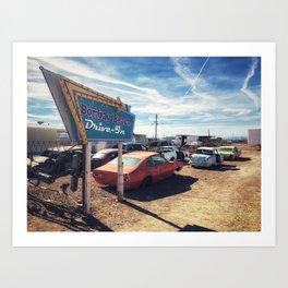Abandoned Desert Drive-In Art Print