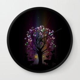 Butterfly Tree Wall Clock