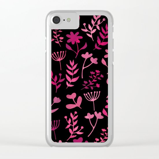Lovely Pattern XV Clear iPhone Case