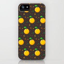 Pixel Oranges - Dark iPhone Case