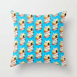 It is Japanese sushi night for the cute French Bulldog Throw Pillow