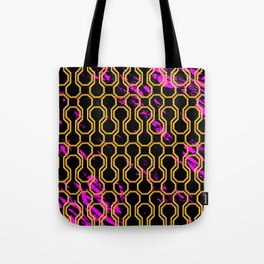 Gold retro octagon geometric pattern Tote Bag