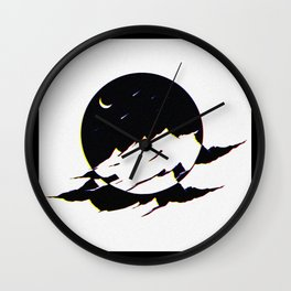Mountains In The Space Wall Clock