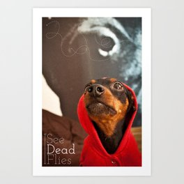 I See Dead Flies Art Print