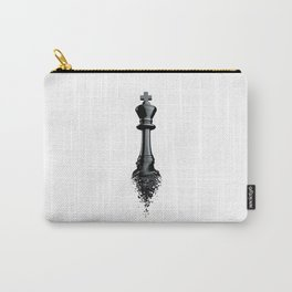 Farewell to the King / 3D render of chess king breaking apart Carry-All Pouch