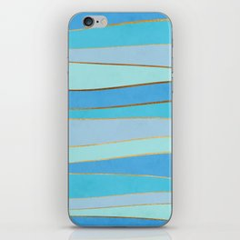 Waves Pattern - Golden Glitter iPhone Skin