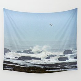 Floating above the crashing waves Wall Tapestry