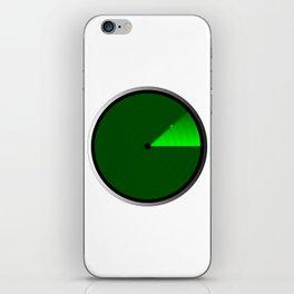 Radar Screen With A Green UFO Dot iPhone Skin