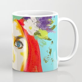 Red haired girl with flowers in her hair Coffee Mug