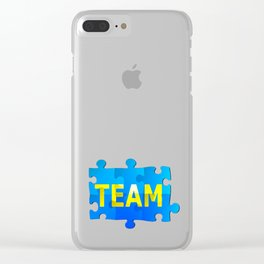Team Jigsaw Puzzle Clear iPhone Case