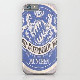 Plakat hotel bayerischer hof  germany iPhone Case