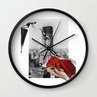 metropolis Wall Clocks featuring Metropolis by Lerson