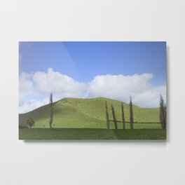 Countryside Forgotten World Highway SH 43 New Zealand Metal Print