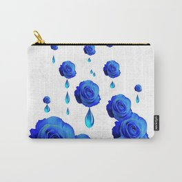DRIPPING WET BLUE ROSES  DESIGN Carry-All Pouch