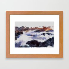 Hidden in the heights Framed Art Print