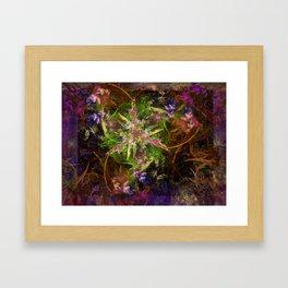 Fractal Floria Framed Art Print