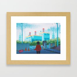 The Power Plant - Kanto in real life Framed Art Print