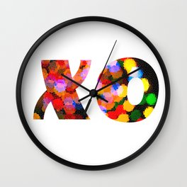 X & O Hugs & Kisses Wall Clock