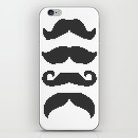 moustache iPhone & iPod Skins featuring Moustache by Jake  Williams
