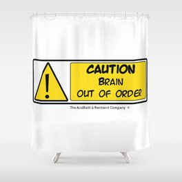 Brain out of Order Shower Curtain