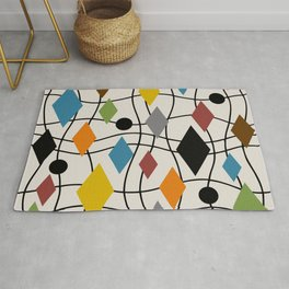 Colorful Mid Century Modern Geometric Abstract 121 Rug