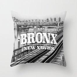 Bronx New York 'New Yawhk' Est. 1788 Throw Pillow