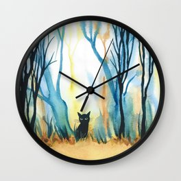 Calabria Whimsical Cat Wall Clock