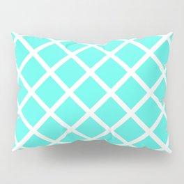 Criss-Cross (White & Turquoise Pattern) Pillow Sham