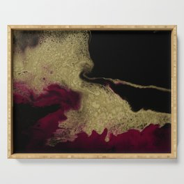 Black Honey - resin abstract painting Serving Tray