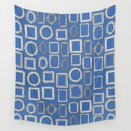 picture frames blue Wall Tapestry