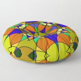 Dark wine green bottle stitch. Floor Pillow