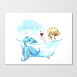 Bathtub Mermaid Canvas Print