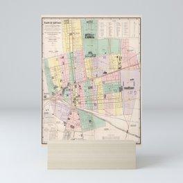 Vintage Map of Santiago Chile (1875) Mini Art Print