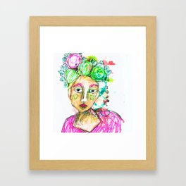 She tried to understand him Framed Art Print
